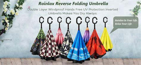 Amazon.com : Rainlax Inverted Umbrella Double Layer