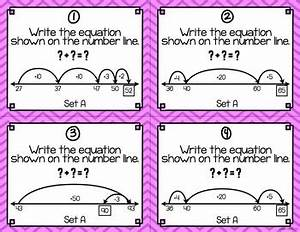 Open Number Lines Task Cards Addition And Subtraction