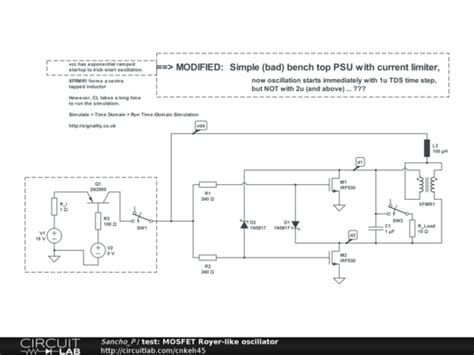 test mosfet royer like oscillator circuitlab