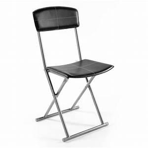 Chaise pliante boyeros noir for Meuble salle À manger avec chaise couleur