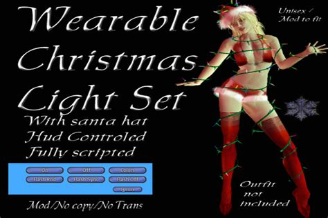 second life marketplace wearable christmas lights