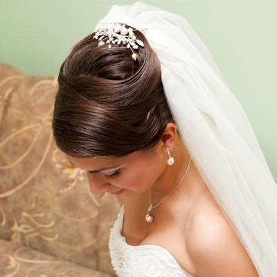 wedding updo with veil bridal hairstyles with wedding
