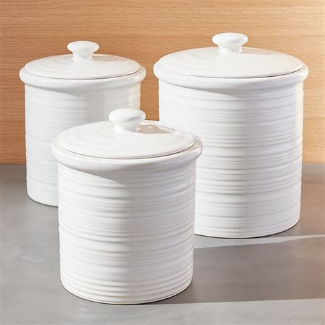 White Canisters For Kitchen by Farmhouse Canisters Crate And Barrel