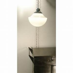 Ceiling pendant swag light vintage schoolhouse globe