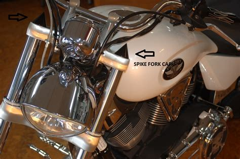 victory motorcycle fork covers spike black  chrome