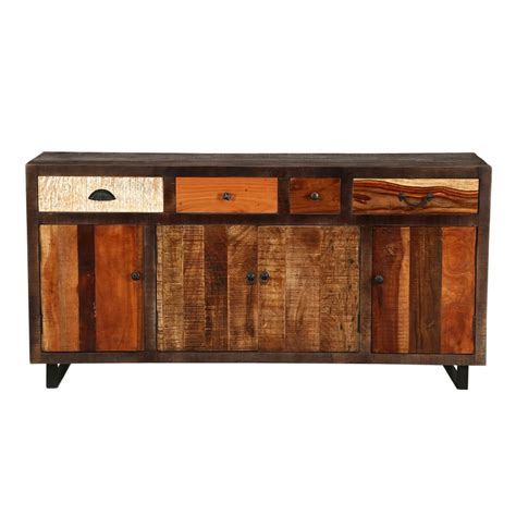 sideboard industrial look oakland mango wood industrial style sideboard