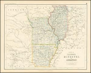 Map of Arkansas Missouri and Illinois