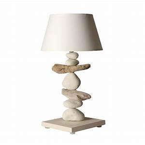 Lampe Chevet Bois Flotté : lampe de chevet bois flott beige lampe bois flott luminaire design ~ Melissatoandfro.com Idées de Décoration
