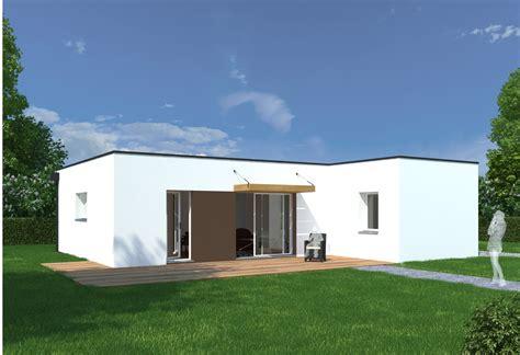 maison plain pied moderne toit plat maison moderne
