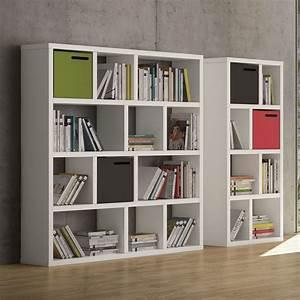 Etagere Blanche Et Bois : temahome etag re biblioth que berlin 4 niveaux 150 cm ~ Teatrodelosmanantiales.com Idées de Décoration