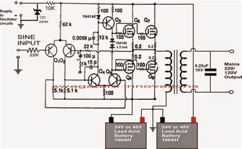 Scematic Diagram Panel Simple Inverter Circuit
