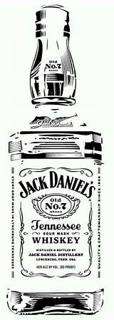 Jack Daniels Stencils Bottle Whiskey Silhouette Stencil Tattoo Pyrography Daniel Clip Glass Vinyl Templates Projects Cameo Label Clipart Etching Cricut sketch template