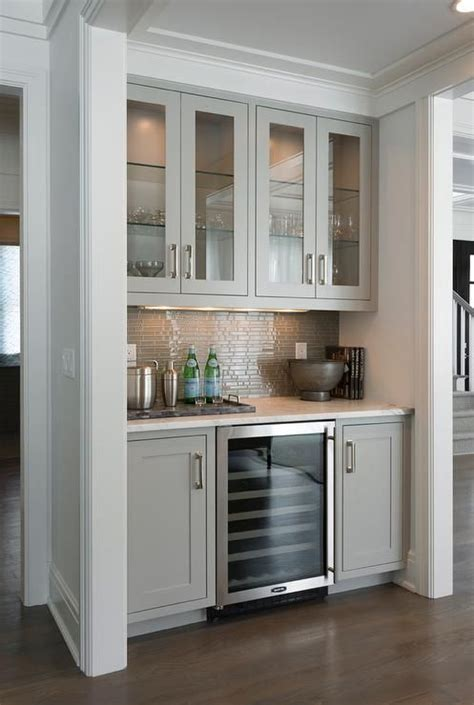 victuals grey bar cabinet contemporary living room bar nook is filled with gray