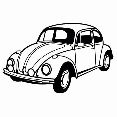Beetle Coloring Pages Classic Vw Cars Rod