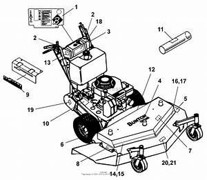 Bunton  Bobcat  Ryan 633003 14 Hp Kawasaki 36 U0026quot  Side Discharge Parts Diagram For Decals