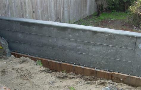diy poured concrete retaining wall green concrete sustainable schmidt
