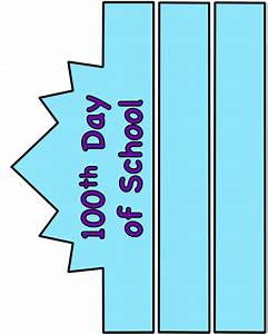 100th day of school hat paper craft color template With 100th day hat template