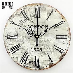 World map large decorative wall clock modern design for Decorative wall clock with moving parts