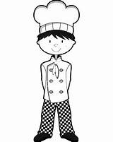 Coloring Chefs Chef sketch template