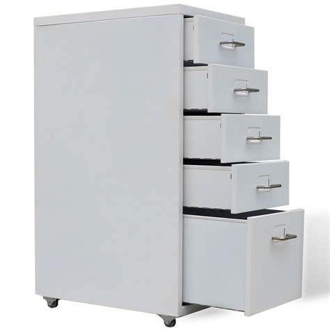 Metal Cabinet - metal filing cabinet with 5 drawers grey vidaxl co uk