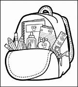 Backpack Coloring Pages Bag Detailed Drawing Coloringpagesfortoddlers Boys Highly Colouring Clipart Clipartmag sketch template
