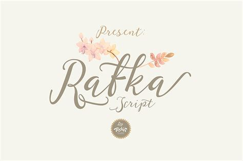 elegant calligraphy  font rafka script ltheme