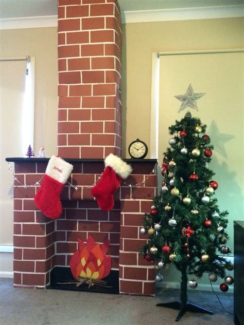 cardboard fireplace ideas  pinterest