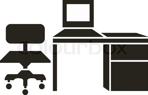 principal039s office clipart black and white abstract vector illustration of office furniture stock