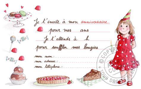 bureau enfants fille carte d invitation anniversaire fille carte d 39 invitation