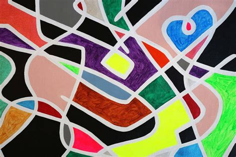 Abstract Shapes Definition esap abstract painting colorful bold lines geometric