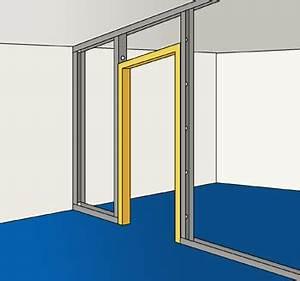 poser un bloc porte en montant une cloison en panneaux de With changer un bati de porte