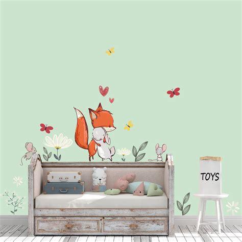 Wandtattoo Kinderzimmer Fuchs by Wandtattoo Fuchs Hase Maus Blumen Schmetterling Set F 252 Rs