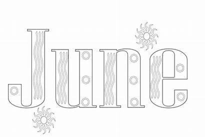 Coloring Pages June Months Month Printable August