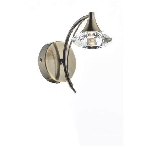 lut0775 luther 1 light wall light dar antique brass light
