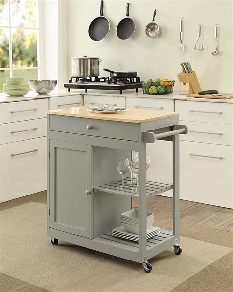 kitchen island  wheels mobile dining room storage