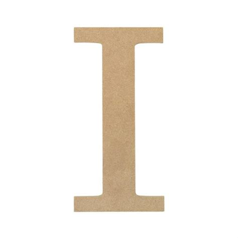 10 quot decorative wood letter i ab2033 mardigrasoutlet com