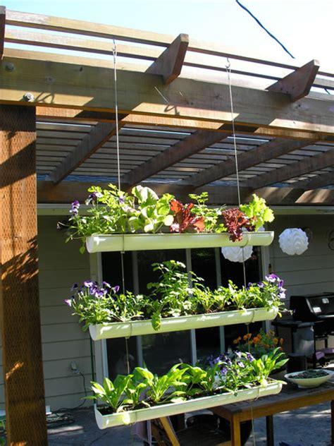 Hanging Vertical Garden by How To Make Hanging Gutter Vertical Garden How To