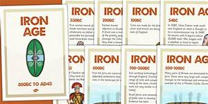 Iron Age Timeline Posters - iron age, timeline, history ...