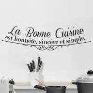 autocollant mural de decoration pour les murs de la With dessin de belle maison 8 citation de la bonne cuisine stickers muraux decoration de
