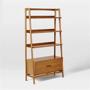 Mid-Century 96.5 cm Bookshelf - Acorn | west elm Australia