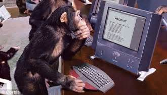 A-levels are so easy a monkey could be trained to do them ...