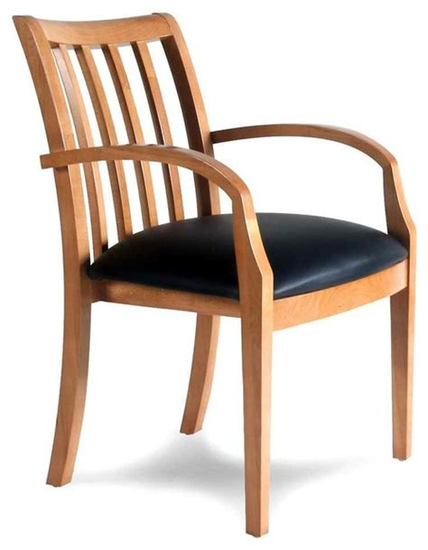 upholstered wood arm chair contemporary office chairs