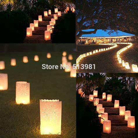 pcs luminary sunshine paper candle tea light lantern