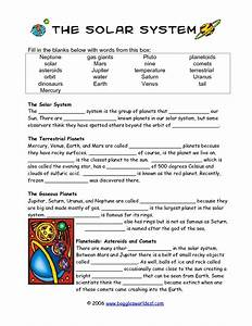 Solar System Worksheets For Third Grade - solar system ...