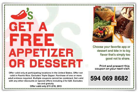 31753 Free Dessert Coupon Chilis by Chilis Food Coupon Free Printable Coupons