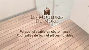 parquet clipsable en cedre massif pour salles de bain et With parquet flottant pieces humides