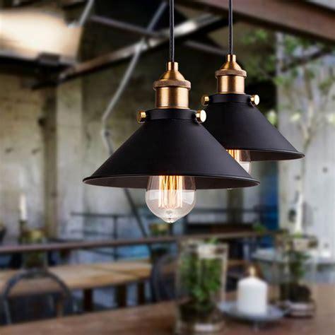 edison dining room lights black vintage industrial pendant light nordic retro lights