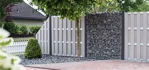 bpc sichtschutz grojasolid fertigzaun in bi color weiss With französischer balkon mit gartenzaun gabionen