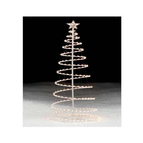 lighted spiral tree modern style