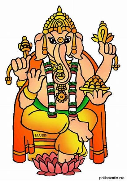 Elephant Indian Clipart India Clip Colour Ganesha